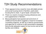 t2h study recommendations