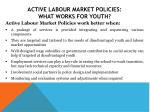 active labour market policies what works for youth