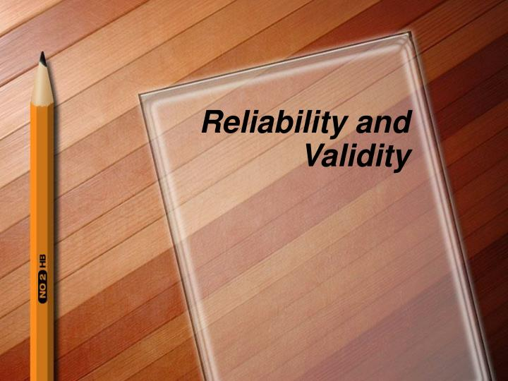 reliability and validity n.