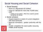 social housing and social cohesion