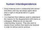 human interdependence