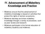 iv advancement of midwifery knowledge and practice