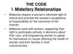the code i midwifery relationships