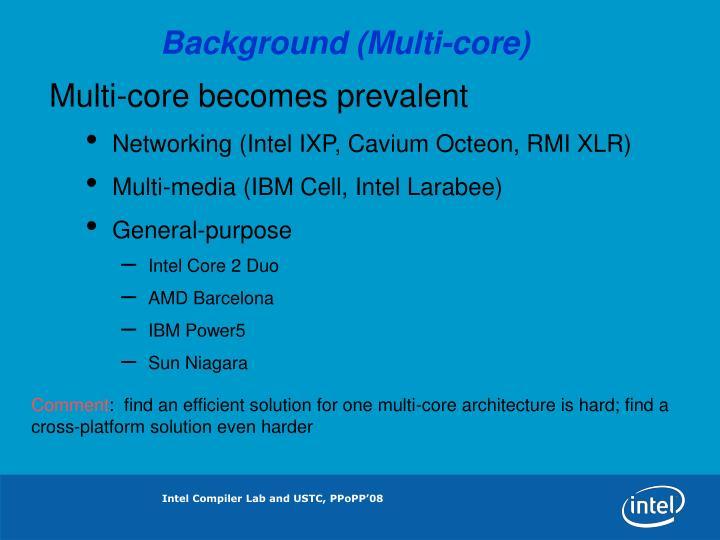 Background (Multi-core)