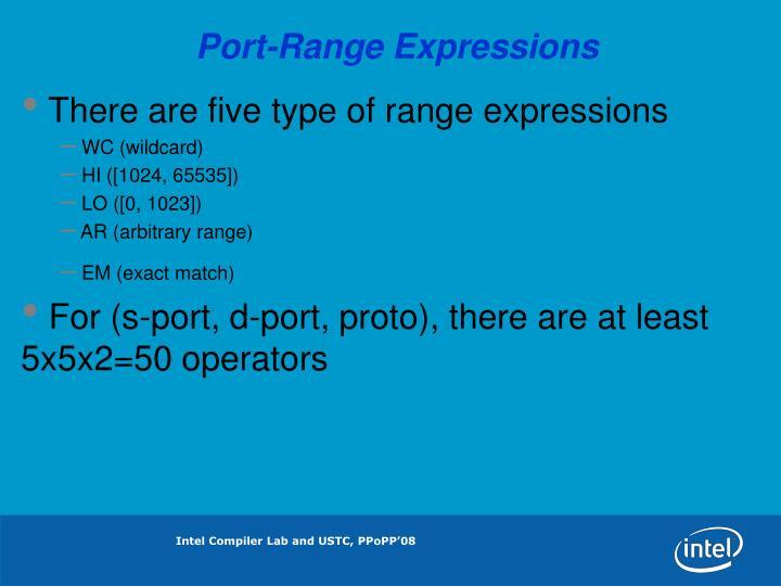 Port-Range Expressions