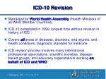 icd 10 revision
