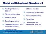mental and behavioural disorders ii