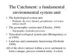the catchment a fundamental environmental system unit
