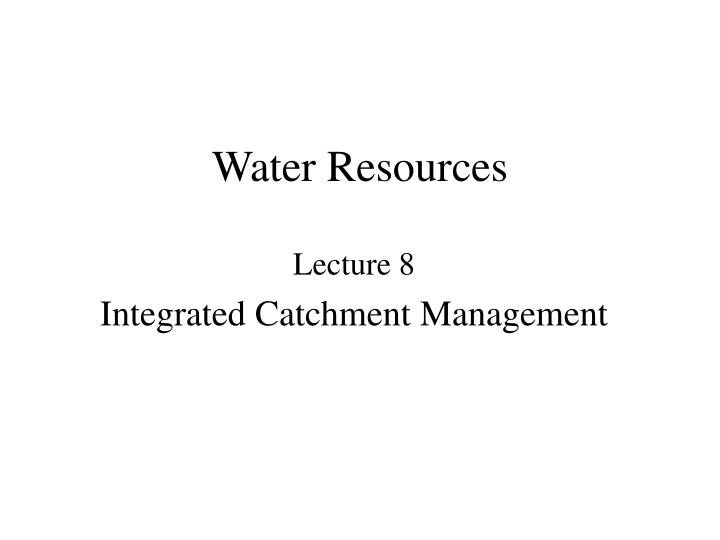 water resources n.