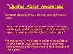 quotes about awareness