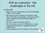 icm as a process the challenges in the uk