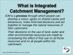 what is integrated catchment management1