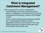 what is integrated catchment management2