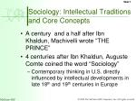 sociology intellectual traditions and core concepts
