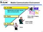 mobile communication environment
