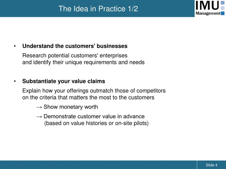 customer value proposition in value markets 5 keys to a customer value proposition published on march 22,  a customer needs to see the value of your service or product not just that it's unique or different.