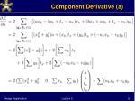component derivative a