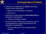 correspondence problem