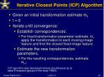 iterative closest points icp algorithm