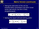matrix version continued1