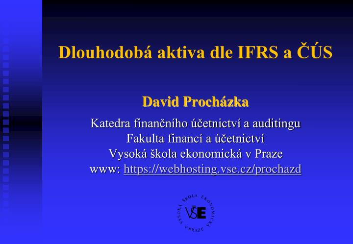 dlouhodob aktiva dle ifrs a s n.