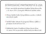 strategick partnerstv s usa