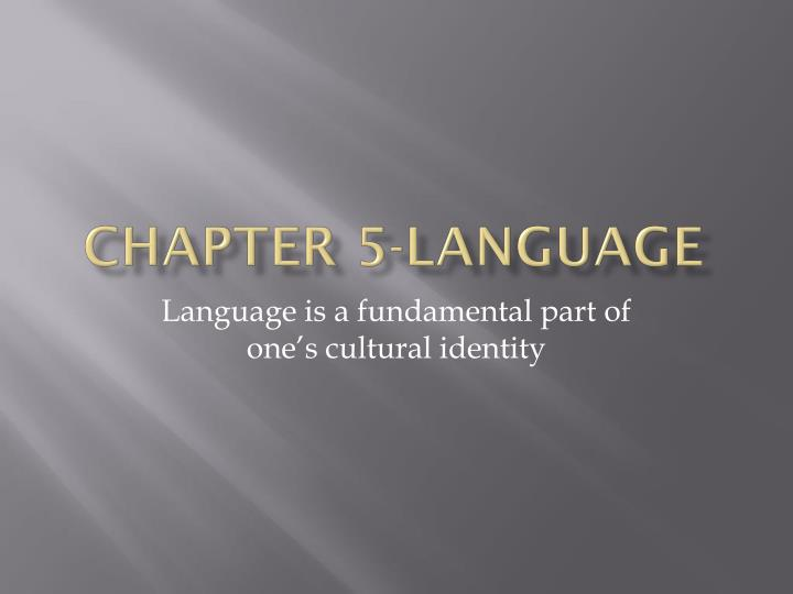 chapter 5 language n.