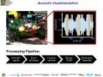 acoustic implementation