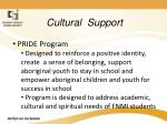 cultural support