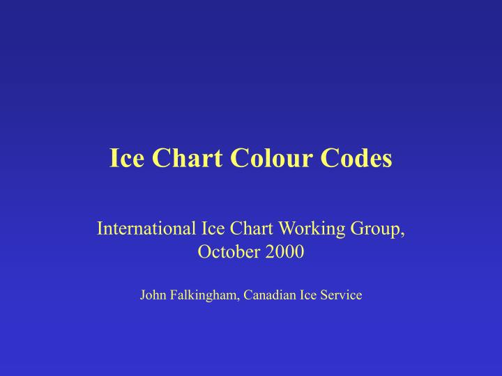 ice chart colour codes n.