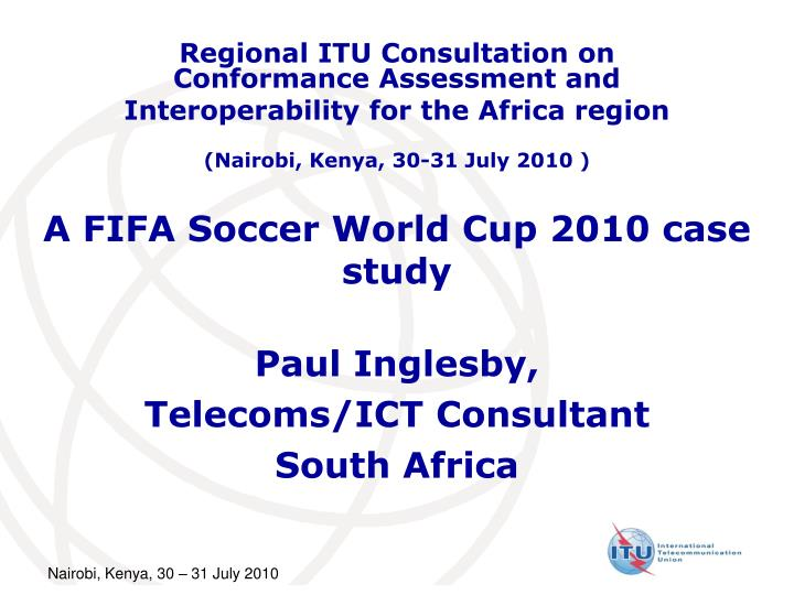 a fifa soccer world cup 2010 case study n.