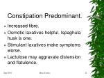 constipation predominant
