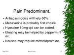 pain predominant