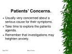 patients concerns