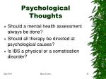 psychological thoughts