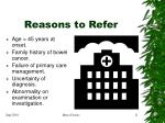 reasons to refer