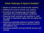 global challenges of aging disability