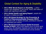 global context for aging disability
