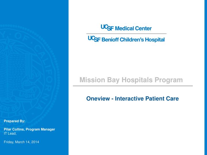 oneview interactive patient care n.