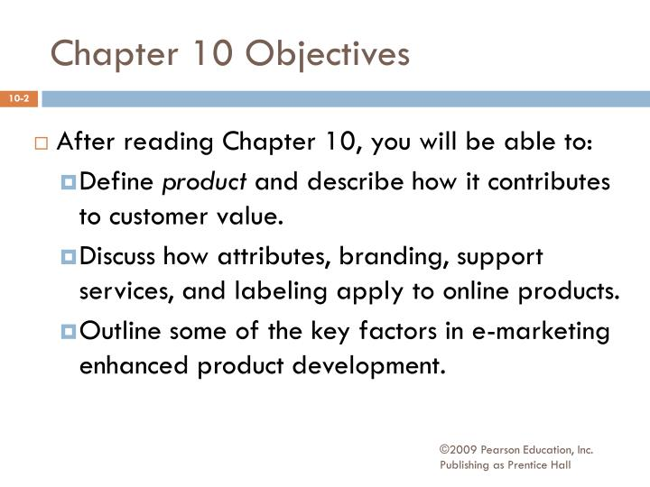 chapter 10 objectives n.