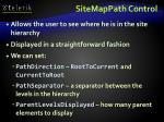 sitemappath control
