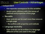 user controls advantages