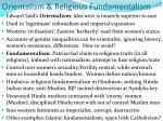 orientalism religious fundamentalism
