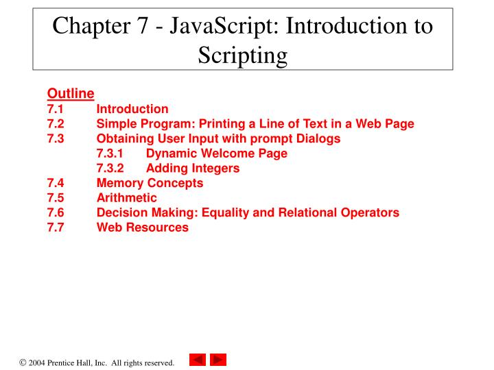 chapter 7 javascript introduction to scripting n.