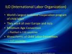 ilo international labor organization