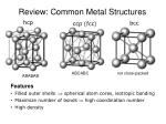 review common metal structures