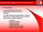 high speed inline coating for sheet fed printing presses