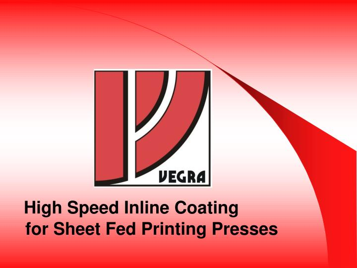 high speed inline coating n.