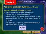 assigning oxidation numbers continued6
