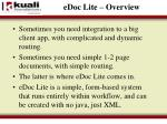 edoc lite overview